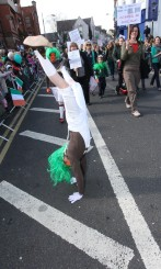 Acrobatics at parade