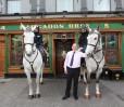 Mounted Gardai David Earley and RIchard Owens with Joe Grogan (Hargadons).