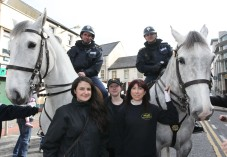 Mounted Gardai, Markree Castle girls
